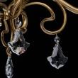 Kronleuchte, Antike Messingfarbe/Metall Glas/Kristall 6*60W E27, 481010506