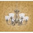Kronleuchte, Antike Messingfarbe/Metall Glas 6*60W E27, 481011506