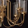 Hängeleuchte, Honey Messing/Metall Glasklar/Glas 8*60W E14 2700K Ip20, 481012708