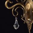 Wandleuchte, Antike Honig + Messingfarbe / Metall Glas /Kristall 1*60W E27, 481020401