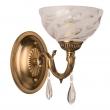 Wandleuchte, Gold + Bronzefarbe / Metall Kristall/Glas 1*60W E14, 481020901