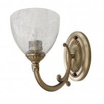 Wandleuchte, Antike Messingfarbe/Metall Glas 1*60W E27, 481021401