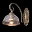 Wandleuchte, Antike Messingfarbe / Metall Glas 1*60W E27, 481021901