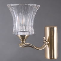Wandleuchte, Antique Brass/Metal Transparent/Glass 1*40W E14, 481024001