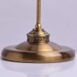 Tischleuchte, Gold Bronzefarbe/Metall Glas 1*60W E27, 481031301