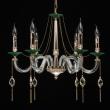 Hängeleuchte, S Gold+Green/Metal Transparent/Crystal+Glass 6*40W E14 2700K, 482016106