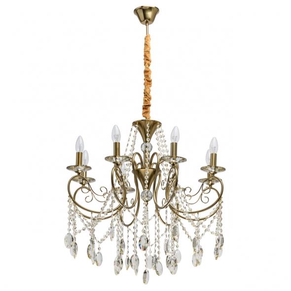 Hängeleuchte, Brass/Metal/Glass/Crystal Champagne/Glass Champagne/Crystal 8*40W E14, 482016408