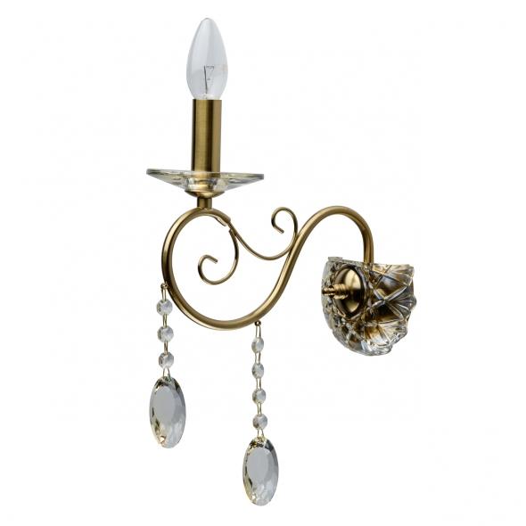 Wandleuchte, Brass/Metal/Glass/Crystal Champagne/Glass Champagne/Crystal 1*40W E14, 482026501