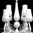 Kronleuchte, Weiss/Metall Glas 12*40W E14, 483010112