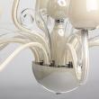 Kronleuchte, Vanillenfarbe / Metall Glas 12*40W E14, 483010412