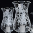 Hängeleuchte, Chrome/Metal White Painted+Transparent/Glass 5*40W E14, 483013805