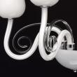 Wandleuchte, Weiss/Metall Glas 3*40W E14, 483020203