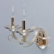 Wandleuchte, S Gold/Metal Cognac/Glass Cognac/Crystal 2*40W E14, 483023002