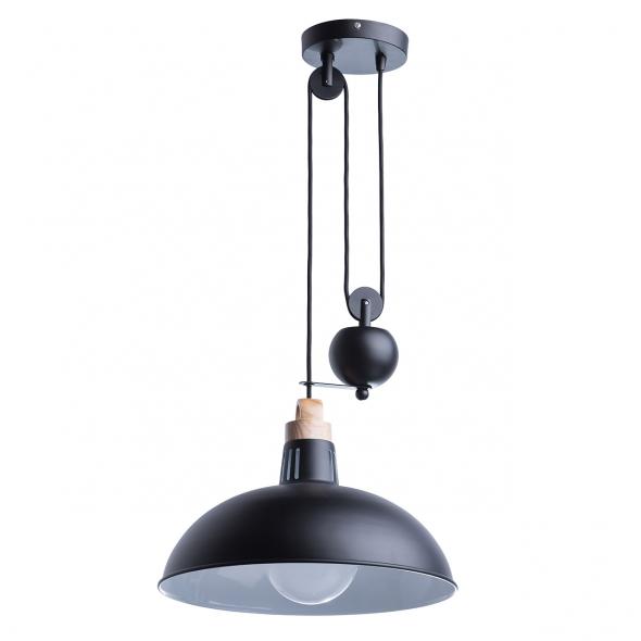 Hängeleuchte, Matt Schwarz / Metall 1*60 W E27, 497014601