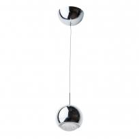 Hängeleuchte, Chromfarben / Metall Glas 1*6W Led Gluehbirne Inklusive 4000-4200K, 498010601