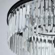 Hängeleuchte, Matt Black/Metal Transparent/Crystal 6*60W E14 2700K, 498014706