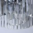 Hängeleuchte, Matt Black/Metall Transparent/Crystal 3*60W E14, 498015103
