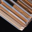 Hängeleuchte, Matt Black/Metall Golden Teak/Crystal 3*60W E14, 498015203