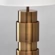 Tischleuchte, Antique Brass Color / Metal Lampshade 1*60W E27, 498033401