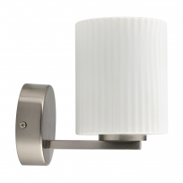 Wandleuchte, Matt Nickel/Metal White/Glass 5W Led 300 Lm 4000K Ip44, 509024201