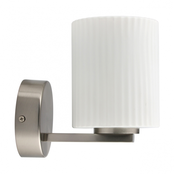 Wandleuchte, Matt Nickel/Metal White/Glass 5W Led 300 Lm 4000K Ip44, 509024201