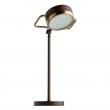 Tischleuchte, Brass+Brown/Metal White/Glass 1*40W E14, 605031501