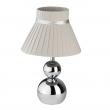 Tischleuchte, Chromfarben / Metall Lampenschirm 1*40W E14, 610030101