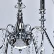 Deckenleuchte, Chrome/Metal Transparent/Crystal 6*40W E14, 614012206