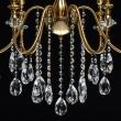 Deckenleuchte, Brass/Metal Transparent/Crystal 6*40W E14, 614012506