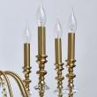 Deckenleuchte, Brass/Metal Transparent/Crystal 10*40W E14, 614012610