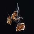 Wandleuchte, Pearl Black+Gold/Metal 1*60W E14, 615021901