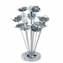 Tischleuchte, Chrome/Metall 4*60W E14 2700K, 615031004