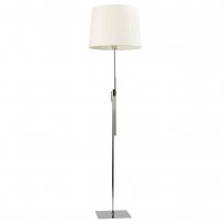 Stehleuchte, Chromfarben / Metall Lampenschirm 1*60W E27, 634040401
