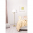 Stehleuchte, Satin Gold/Metal White /Fabric 1*60W E27 2700K In-Line Switch, 634042201
