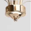 Deckenleuchte, Franzoesische Goldfarbe / Metall Glas 3*60W E14, 638010203