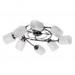 Deckenleuchte, Nickelfarbig / Metall Glas /Kristall 8*60W E14, 638011008