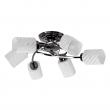 Deckenleuchte, Nickelfarbig / Metall Glas /Kristall 6*60W E14, 638011106