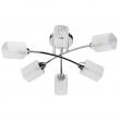 Deckenleuchte, Chrome/Metal White Matt/Glass 6*60W E14, 638015306