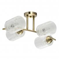 Deckenleuchte, Antique Brass/Metal White/Glass 4*40W E27, 638018004