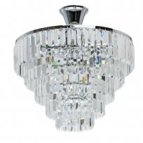 Hängeleuchte, Chrome/Metal Transparent/Crystal 5*60W E14 2700K, 642010705