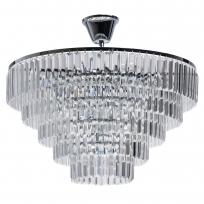 Deckenleuchte, Chrome/Metal Transparent/Crystal 8*60W E14, 642013008