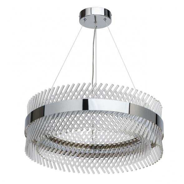 Hängeleuchte, Chrome/Metal Transparent/Glass 52W Led 6240 Lm 4000K, 642013701