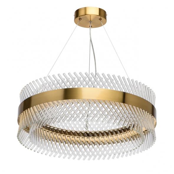 Hängeleuchte, Brass/Metal Transparent/Glass 52W Led 6240 Lm 4000K, 642014001