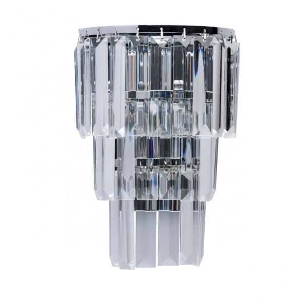 Wandleuchte, Chrome/Metal Transparent/Crystal 1*60W E14, 642022601