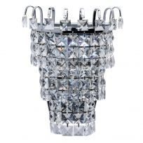 Wandleuchte, Chrome/Metal Transparent/Crystal 1*60W E14, 642022801