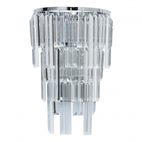 Wandleuchte, Chrome/Metal Transparent/Crystal 1*60W E14, 642023401