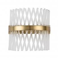 Wandleuchte, Brass/Metal Transparent/Glass 15W Led 1800 Lm 4000K, 642024101