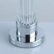 Tischleuchte, Chrome/Metal Transparent/Glass White/Fabric 1*40W E27, 642031501