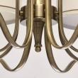 Kronleuchte, Antique Brass Color / Metal Fabric Cream+Gold /Color Lampshade 8*60W E14 2700 –Ö, 667010808