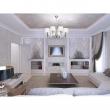 Kronleuchte, Nickel Color / Metal Fabric Cream/Color Lampshade 8*60W E14 2700 –Ö, 667010908